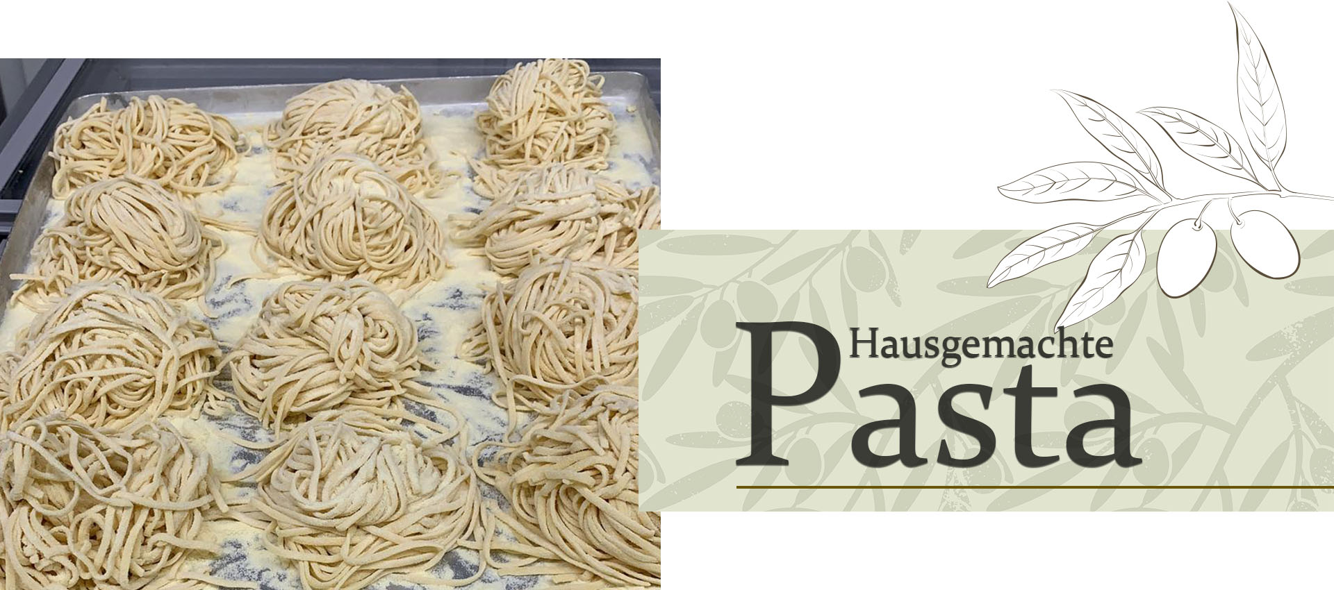 Pasta essen in Wangen, hausgemacht und frisch zubereitet